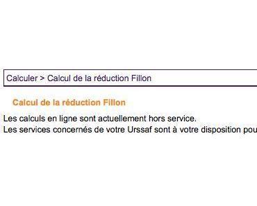 Calcul de paie de la réduction Fillon