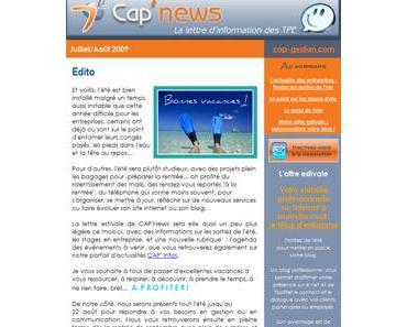 CAP'NEWS – Juillet/Août 2009