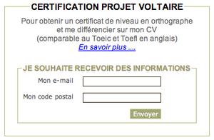 Projet Voltaire de certification : le Toefl de l'orthographe pour votre CV ?