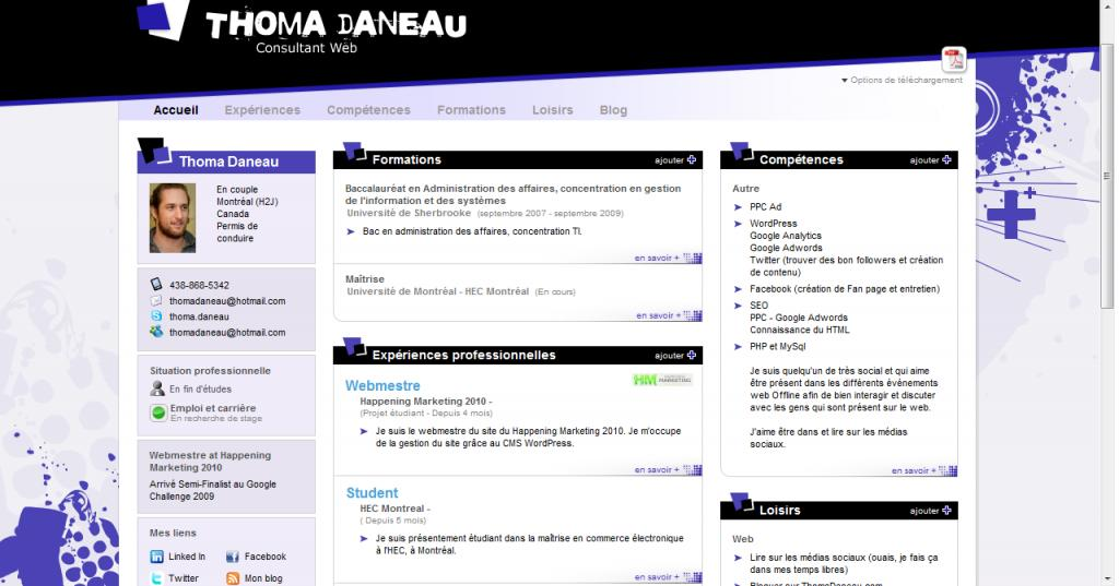 do you buzz   un cv sur le web  facile  u00e0 faire  avec un beau design et indexable sur google