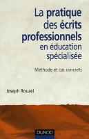 Éducateur, ce métier impossible - livre joseph rouzel les écrits professionnels éducation spécialisée