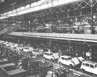 Le travail à la chaîne dans les années soixante