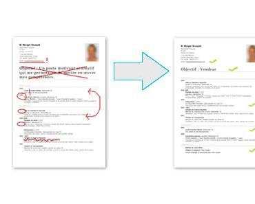Différence entre bons et mauvais CV