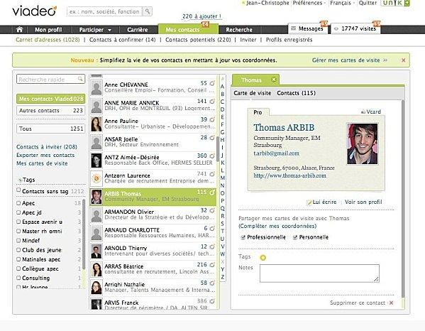 Linkedin Vs Viadeo 6me Round Comment Grer Vos Contacts Pros