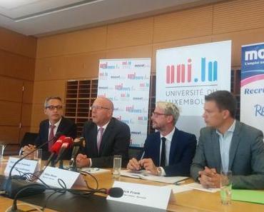 Conférence de Presse sur Unicareers.lu à l'Université du Luxembourg avec Moovijob