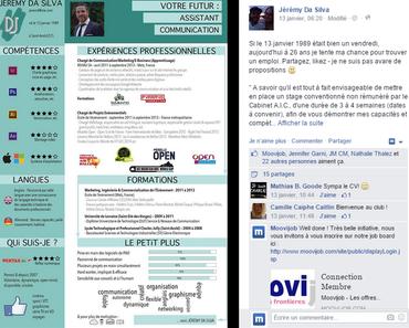CV original : la belle surprise de Jérémy Da Silva