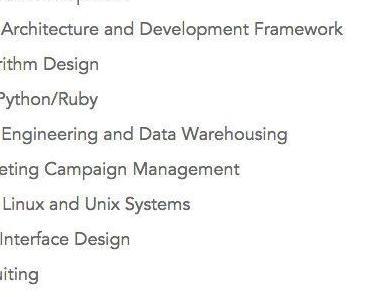 Top 25 des compétences recherchées en 2014