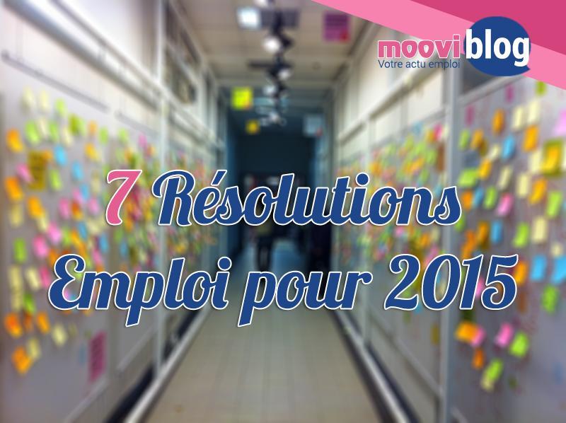 7 résolutions emploi pour 2015
