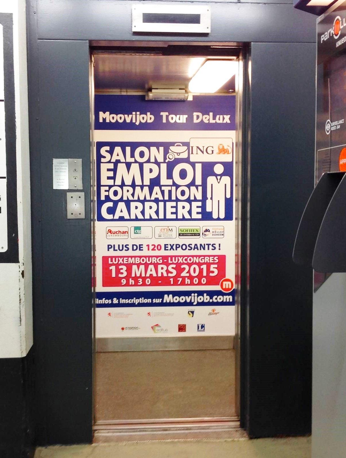 Trouvez votre futur job dans un ascenseur !