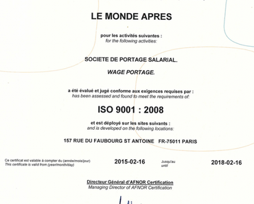 It's done, we are ISO 9001 !