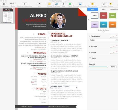 Les CV de Mycvfactory sur Mac
