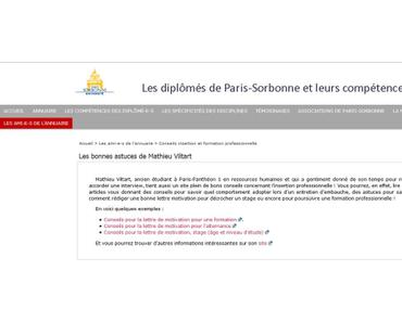"""Les anciens élèves de La Sorbonne proposent """"Les bonnes astuces d'AMVi"""" !"""