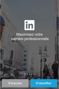 LinkedIn-linkedin-s'identifier - s'inscrire - homepage - carrière - career - slogan - réseau professionnel - réseau social - emploi - travail