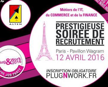 Quels sont les talents recherchés à la soirée de recrutement Plug&Work Paris ?