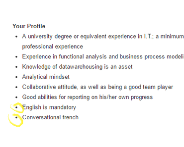 In which language should you write your Resume?