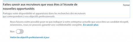 Astuce LinkedIn : Faites savoir aux recruteurs que vous êtes réceptif aux opportunités !